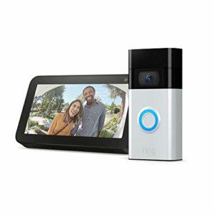 Ring Video Doorbell Satin Nickel bundle