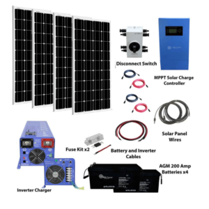 Complete Off-Grid Solar Kit 800 Watts
