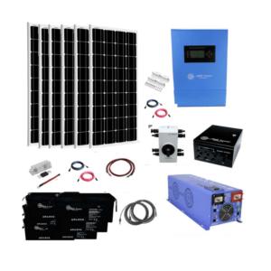 Complete Off-Grid Solar System AGM Kit