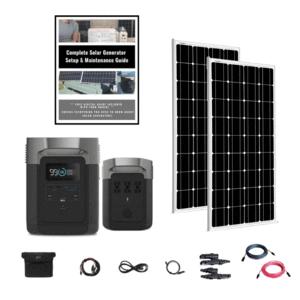 EcoFlow Delta DOUBLE Kit 1800W 2 x 100W 12V Mono Solar Panels