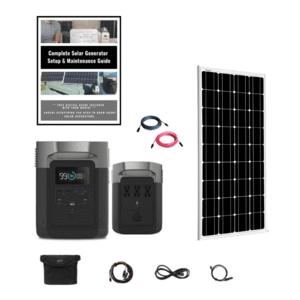 EEcoFlow Delta 1800W Mono Rigid Kit + 1 x 100W 12V Mono Rigid Solar Panel