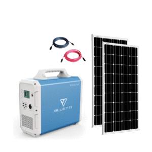 Bluetti EB150 Solar Generator TWO Panel Kit