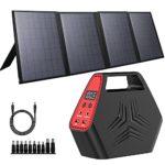 100W Portable Solar Generator 40W Foldable Solar