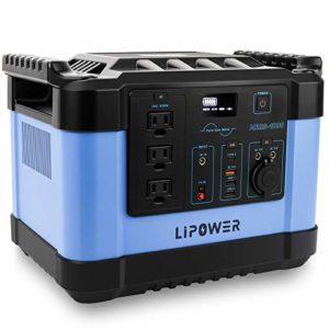 LIPOWER 1000W Portable Power Station MARS-1000 1100Wh/300 000mAh