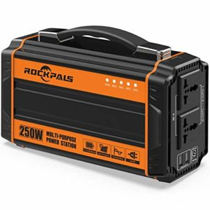 ROCKPALS 250-Watt Portable Generator Rechargeable Lithium Battery